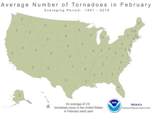 Average number of tornadoes in February in US.jpg