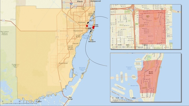 Zika identified areas in Miami by CDC.jpg